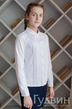 Блуза 1714 белый трикотаж
