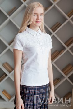 Блузка 1746 трикотаж белый