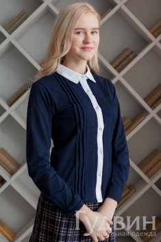 Блузка 1714 синий трикотаж