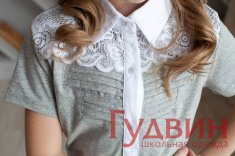 Блузка 1776 трикотаж серый