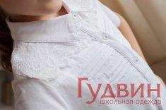 Блузка 1776 белый трикотаж