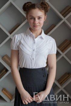 Блуза 1755 белый трикотаж