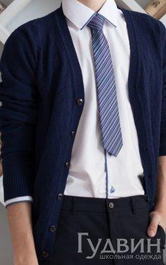 Кардиган, джемпер для мальчика синий