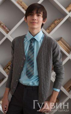 Кардиган, джемпер для мальчика серый