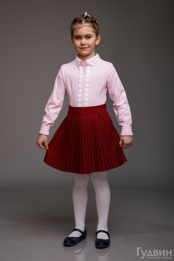 """Блузка """"Розочка"""" длинный и короткий рукав"""