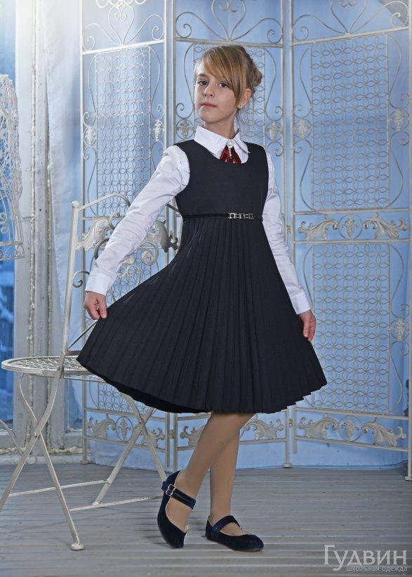 сарафан 6700 Гофре чёрный