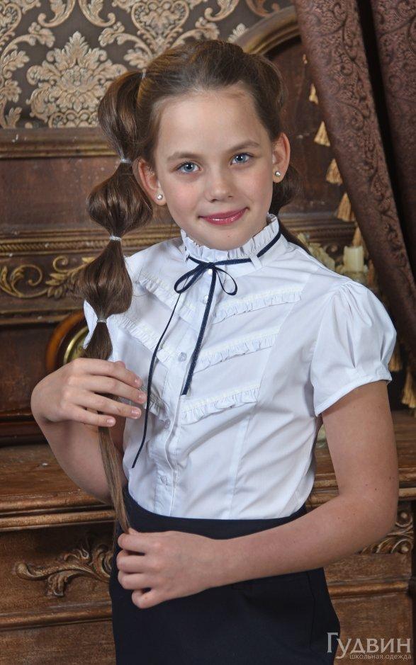 Блузка 0122 кр. рукав Декор