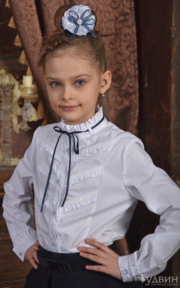 Блузка 0120 дл. рукав Декор