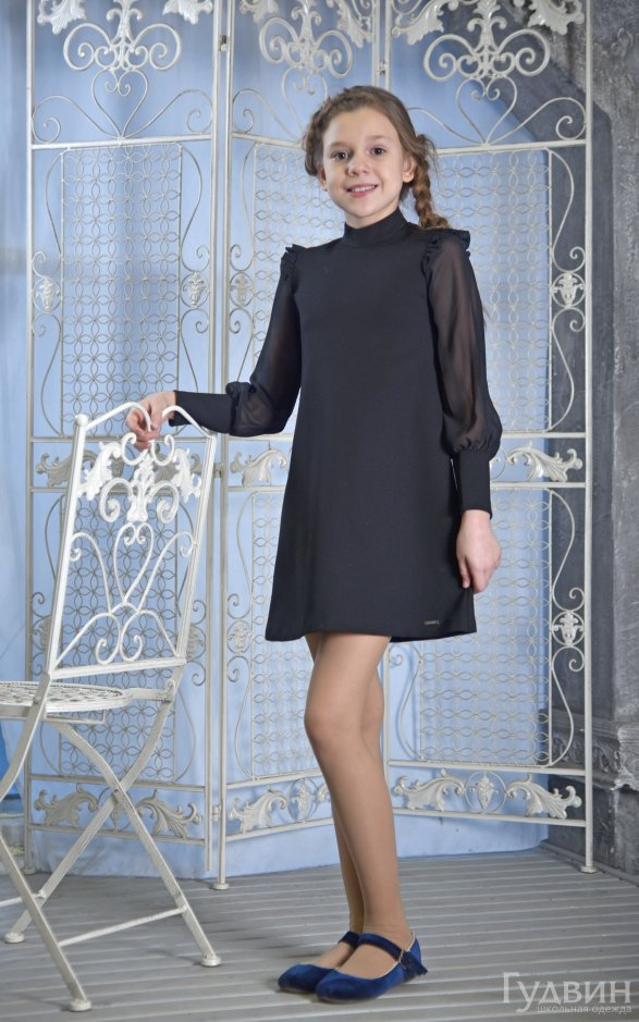 Платье 8006  чёрном.