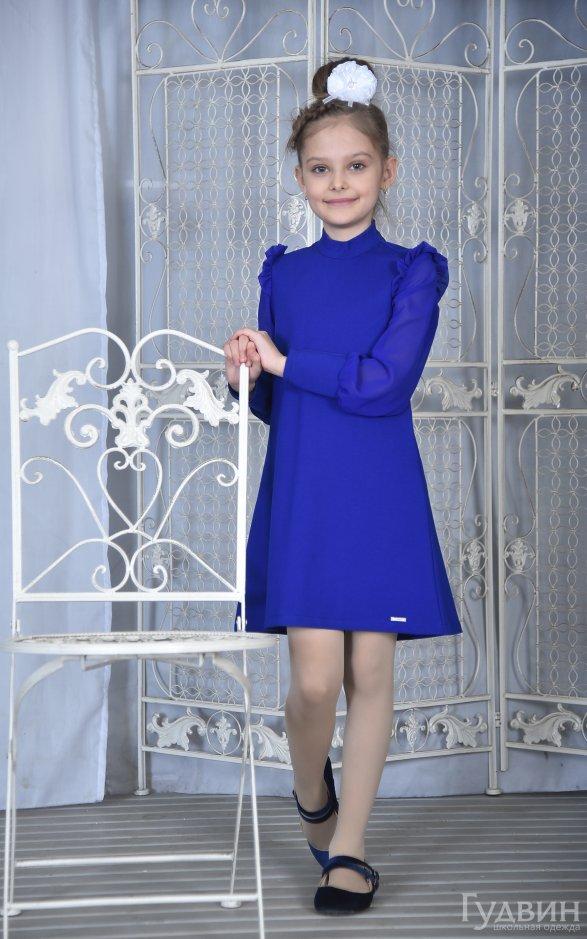 Платье 8006 васильковое