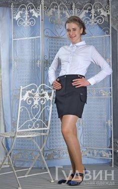 юбка 520 с карманами синяя, чёрная, серая