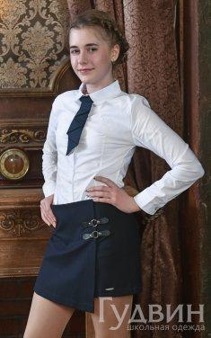 шорты-юбка 610 синий, серый, чёрный